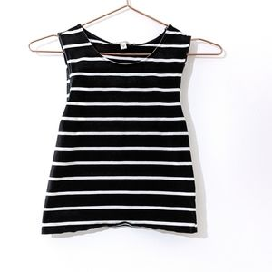 Express Striped Sleeveless Crop Top Size Small